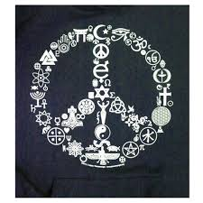 hs007 coexist peace symbol interfaith hooded sweatshirt