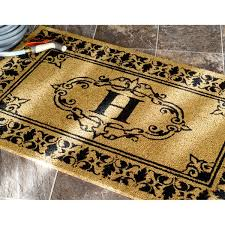 Monogrammed Rugs Outdoor by Nuloom Estate Monogrammed Welcome Door Mat 2 U00276 X 4 U0027 Free