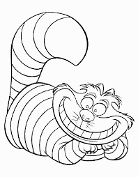 alice in wonderland outline coloring pages coloring pages