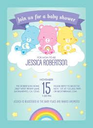 care baby shower care bears baby shower invitation baby shower invitation cardstore