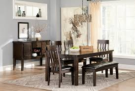 Dining Room Side Table Haddigan Rect Dining Room Ext Table 4 Uph Side Chairs Large Uph