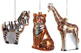 silk plants direct glass animal ornament pack of 6 traditional