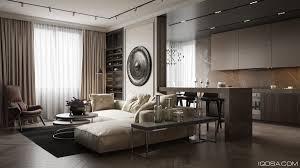 Wine Color Bedroom Long Sofa Tv Cabinet Striped Carpet Monochromatic Color Base White