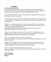 sample thank you letter after interview 8 examples in pdf