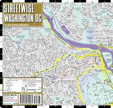 New York Street Map by Streetwise Washington Dc Map Laminated City Center Street Map Of