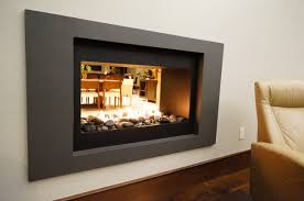 decor u0026 tips gorgeous wall mount linear fireplace with two side