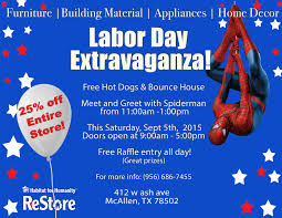 habitat for humanity restore labor day extravaganza welcome