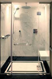 Master Shower Ideas by Glass Shower Walls Instead Of Tile Showers Decoration