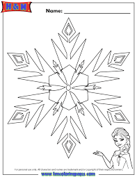 elsa frozen snowflake coloring page free printable coloring