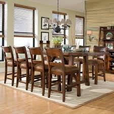 counter height table sets with 8 chairs woodland ridge 9 piece dining set 8 chairs furniture solid wood