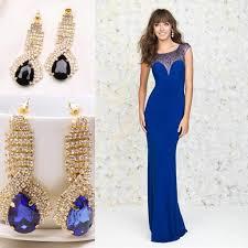 2015 mermaid prom dresses with earrings sleeveless azzi u0026 osta new