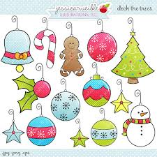 deck the trees digital clipart commercial use ok