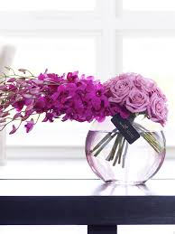 luxury flowers luxury purple orchid and vase