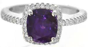purple diamond engagement rings purple sapphire and diamond halo ring in 14k white gold