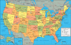 map of united states showing states and cities us map and names of states map of usa showing state names