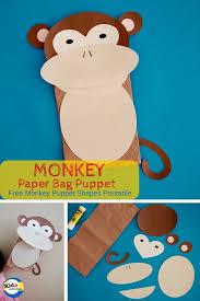 Monkey Paper Plate Craft - monkey paper bag puppet kidz activities