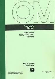 john deere 1030 1130 1630 tractor operators manua trade me