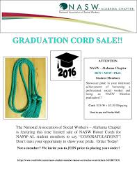 graduation cords for sale national association of social workers alabama chapter