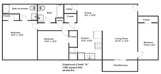 apartments 3bed 2bath floor plans bedroom bath southern style