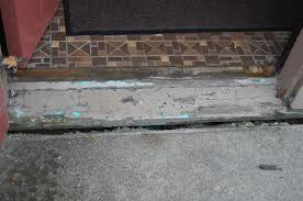 How To Fix Cracks In Concrete Patio Separation Between Concrete Porch U0026 Front Door