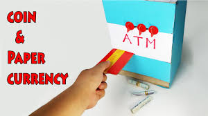 how to make atm machine piggy bank for kids diy youtube