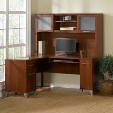 Bush Desks With Hutch Bush Furniture Somerset 60w L Shaped Desk With Hutch In Hansen