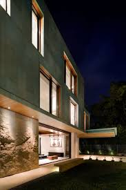 Home Lighting Design In Singapore by Metallic Exterior Meets Modern Interiors At Singapore U0027s Green House