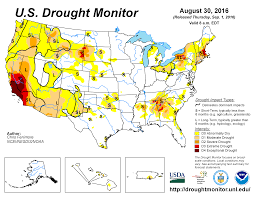 california drought map january 2016 drought august 2016 state of the climate national centers