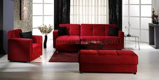 Red Sectional Sofas by Elegant Convertible Sectional Sofa W Storages In Red Microfiber