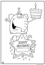 birthday coloring sheets happy birthday coloring pages 10