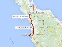 map of hat yai how to get from penang to hat yai magic travel