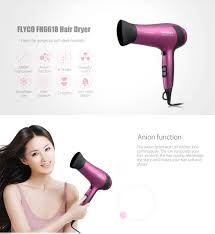 flyco fh6618 2000w household hair dryer purple free shipping