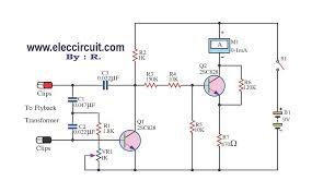 flyback transformer tester circuit using 2sc828