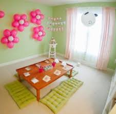 Home Design Simple Birthday Room Decoration Images Hello Kitty - Birthday decorations at home ideas