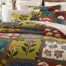 Patchwork Duvet Sets Tache 3 Pc Cotton Floral Colorful Summer Day Party Patchwork Quilt