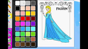 frozen elsa disney coloring pages