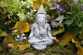 beautiful lord ganesh statue zen outdoor garden