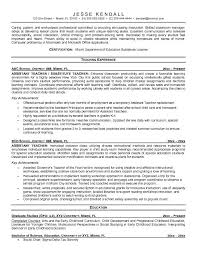Examples Of Teachers Resume by Teaching Resume Objective Education Resume Template Word Teacher