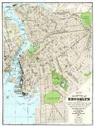 Brooklyn Ny Map Vintage Guide Map And Directory Of Brooklyn From 1883 Knowol
