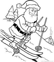 santa claus snowman coloring pages kids printable free