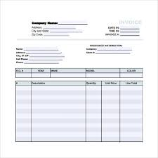 sample auto repair invoice template 12 download free documents