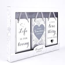 Wedding Gift Set Wedding Gift Keepsake Plaques Pack Of 3 Gift Set