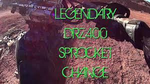 o o the most legendary suzuki dr z400 sprocket change tutorial