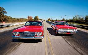 1962 chevrolet impala ss409 vs 1963 ford galaxie 500 motor