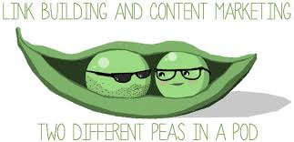 Two Peas In A Pod Meme - link building and content marketing two different peas in a pod