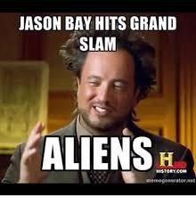 Meme Generator Alien - jason bay hits grand slam aliens history com memegenerator net mlb