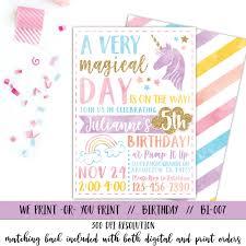unicorn birthday invitations stephenanuno com