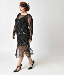 black and gold dress black gold plus size beaded sheer sleeve betty flapper