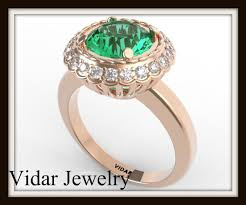 flower emerald rings images Green emerald and diamond flower ring vidar jewelry unique jpg