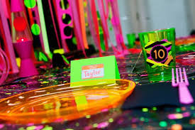 kara s ideas neon 80 s skate themed birthday